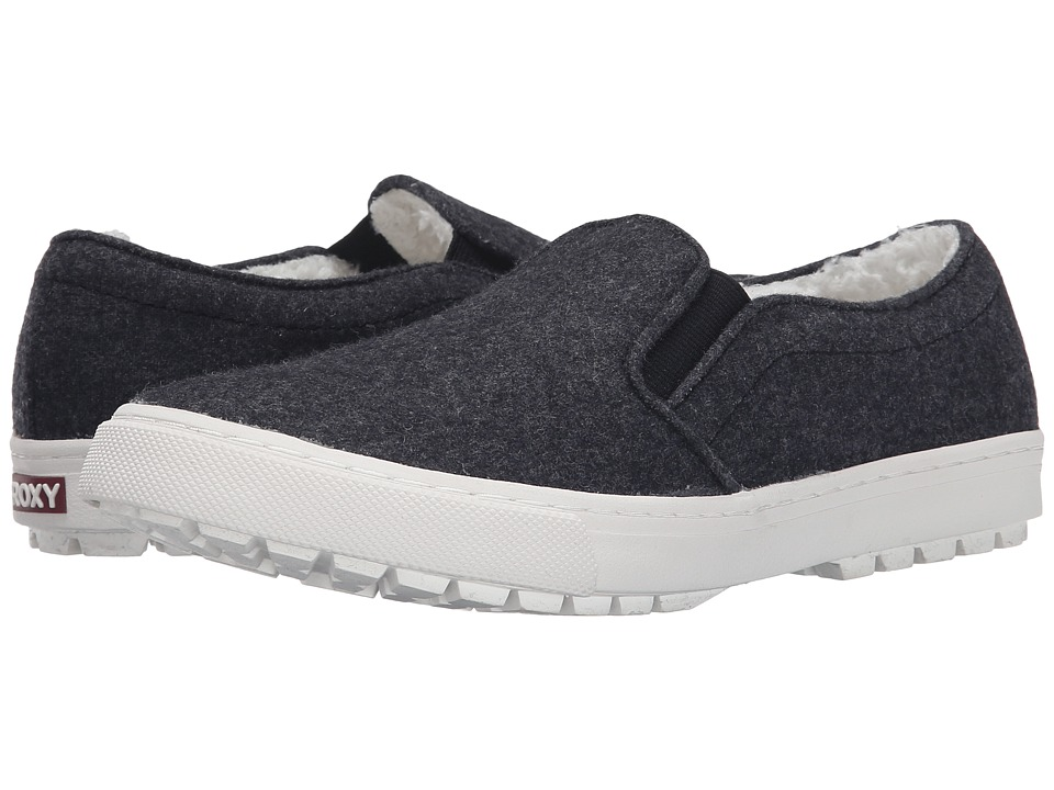 Roxy - Juno Fur (Grey) Women's Slip on Shoes
