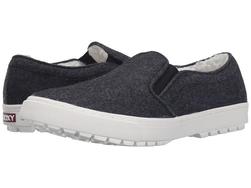 Roxy - Juno Fur (Grey) Women's Slip on Shoes