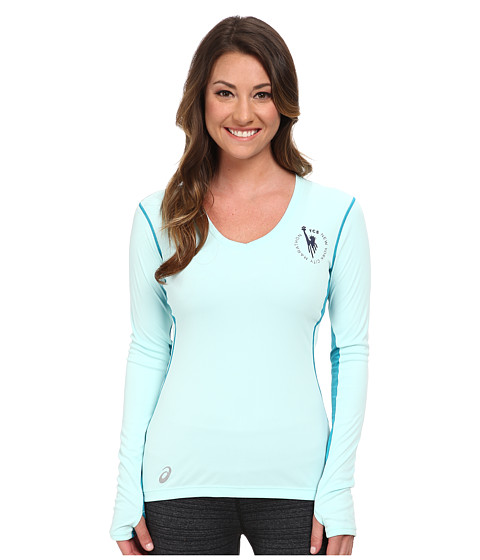 ASICS - NYC Marathon Lite-Show Favorite Long Sleeve (Crystal Blue/Bondi Blue) Women