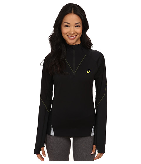 ASICS - FujiTrail Long Sleeve 1/2 Zip (Performance Black) Women