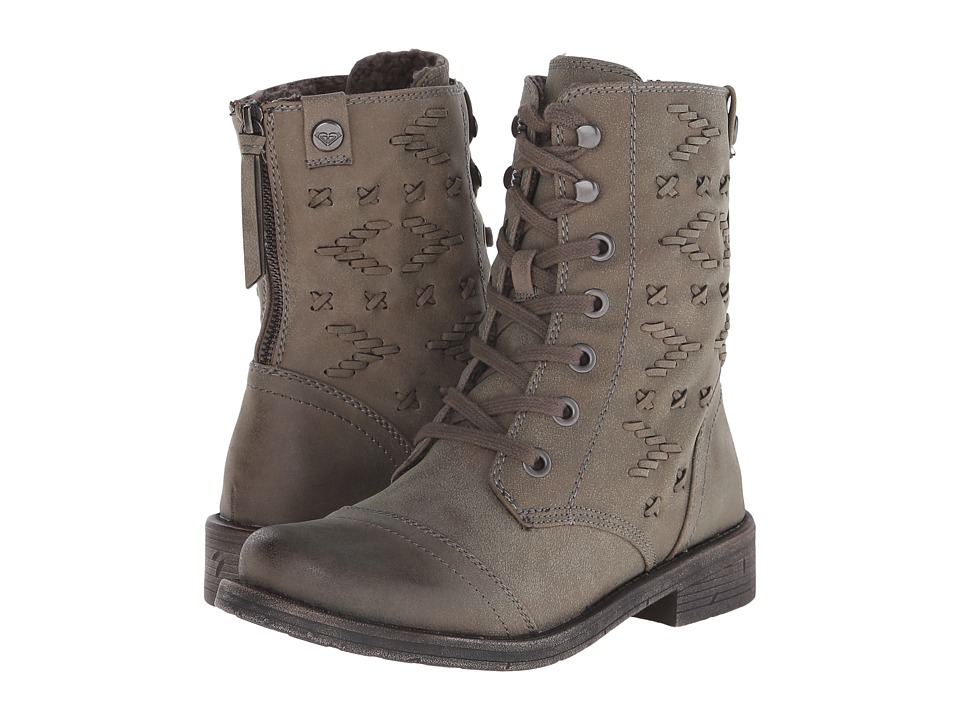 Roxy - Croswell (Olive) Women's Lace-up Boots