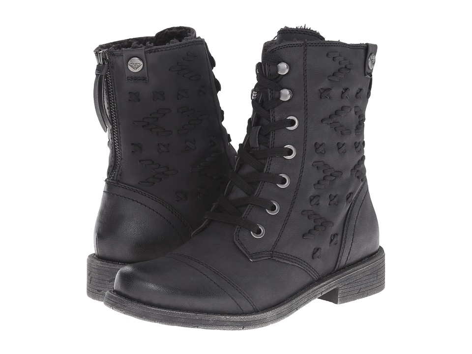 Roxy - Croswell (Black) Women's Lace-up Boots