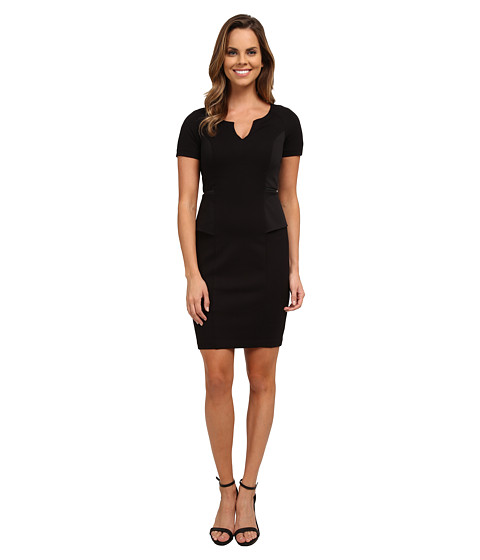NYDJ - Bridget Peplum Dress (Black) Women's Dress