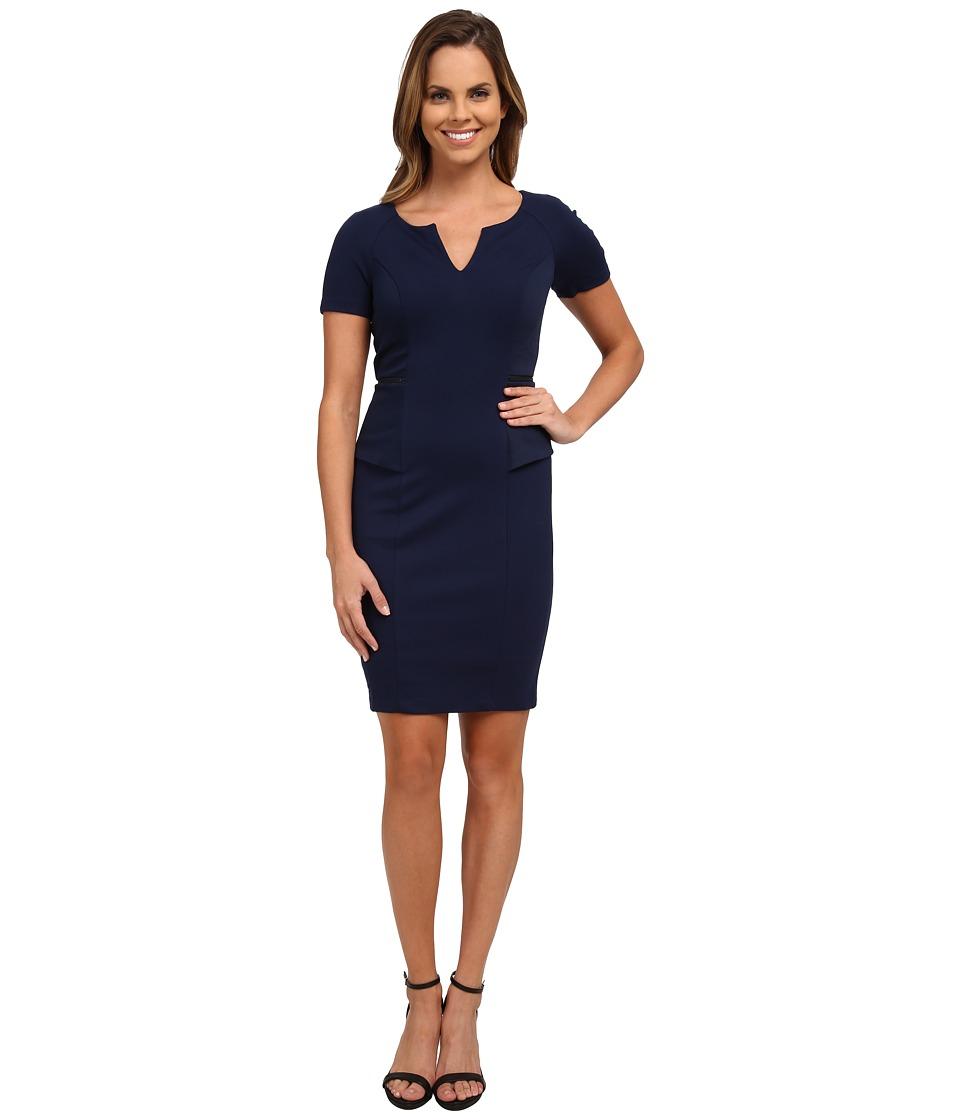 NYDJ - Bridget Peplum Dress (Knight Blue) Women's Dress