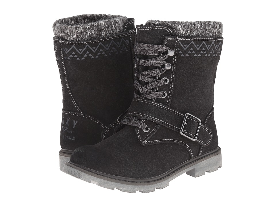 Roxy - Tahoe (Black) Women's Lace-up Boots