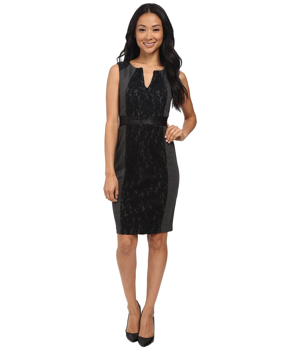 NYDJ - Lexie Mix Media Dress (Black) Women's Dress