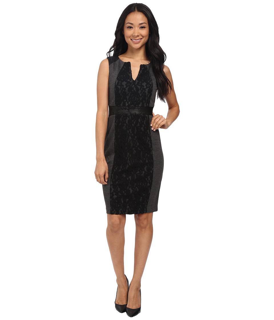 NYDJ - Lexie Mix Media Dress (Black) Women's Dress