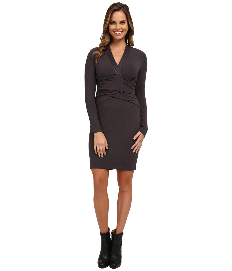 NYDJ - Nicole Wrap Dress (Charcoal Grey) Women