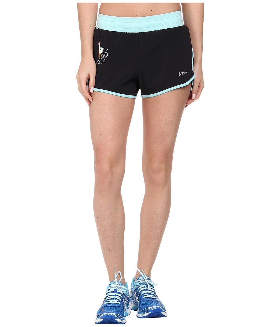ASICS - NYC Marathon Distance Short (Black/Crystal Blue) Women's Shorts