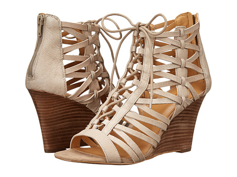Nine West - Conspire (Taupe Leather) Women's Wedge Shoes