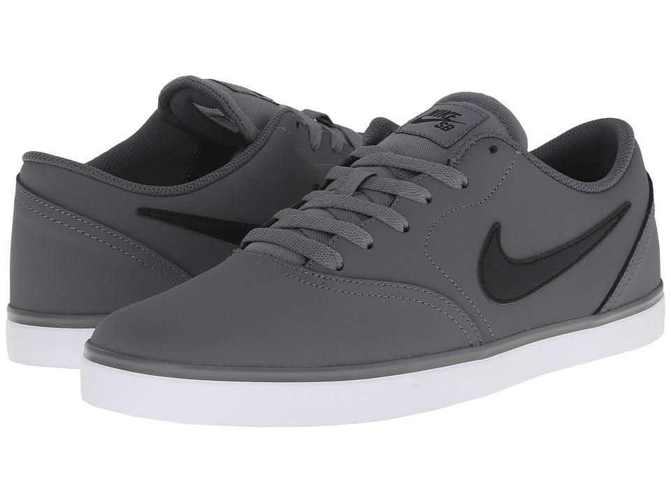 Nike SB - Check Nubuck (Cool Grey/Dark Grey/White/Black) Men's Skate Shoes