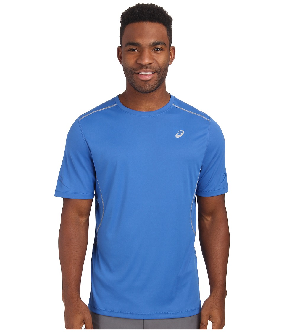 ASICS - Lite-Show Favorite Short Sleeve (New Blue) Men's Short Sleeve Pullover