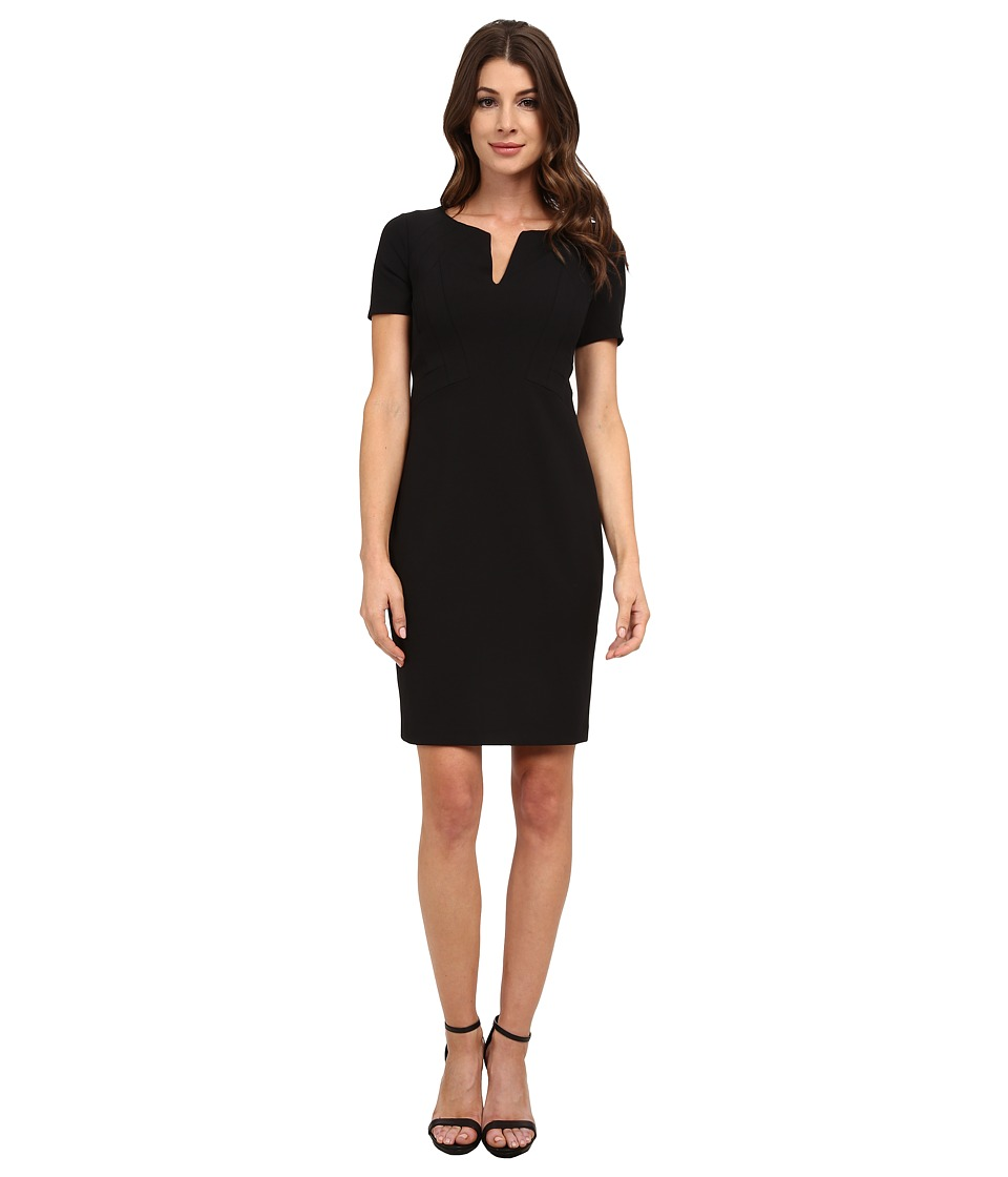 NYDJ - Elenor Origami Seam Dress (Black) Women's Dress