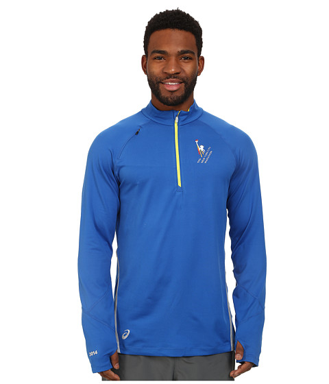 ASICS - NYC Marathon Thermopolis LT 1/2 Zip (New Blue/Eletric) Men's Clothing