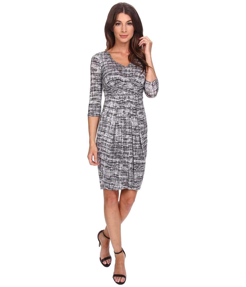NYDJ - Elizabeth Wrap Dress (Tweed Print) Women's Dress