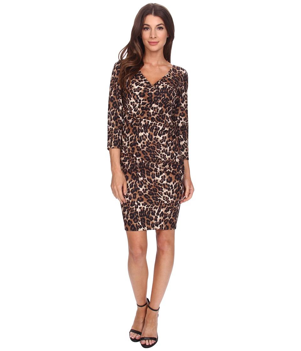 NYDJ - Monique Cheetah Print Dress (Haute Chocolate) Women's Dress