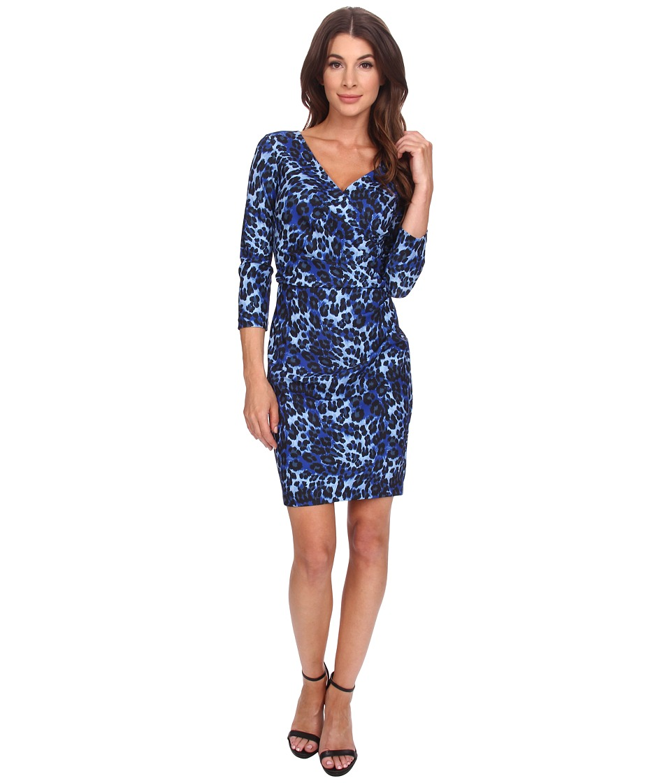 NYDJ - Monique Cheetah Print Dress (Azul) Women's Dress