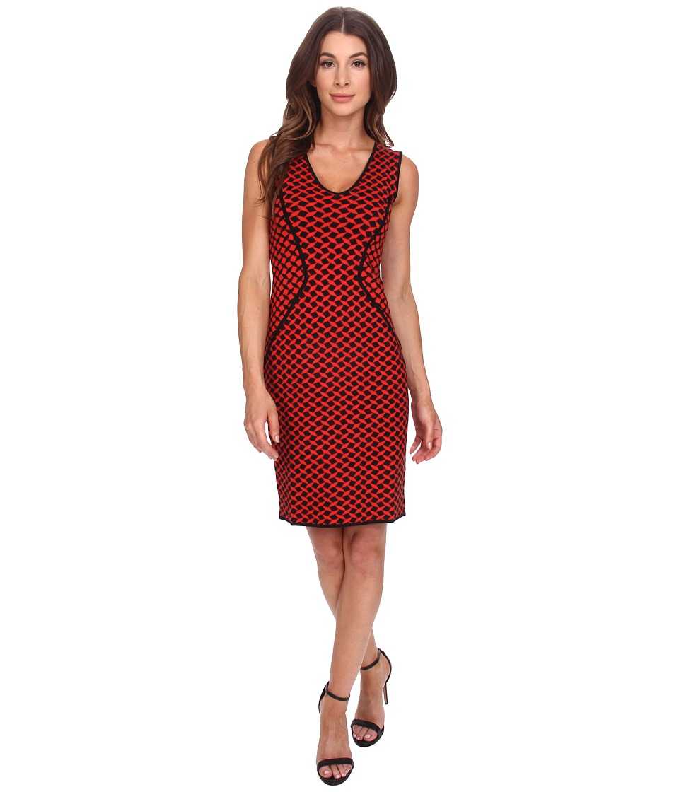 NYDJ - Cecilia Sweater Dress (Fiery Red) Women's Dress