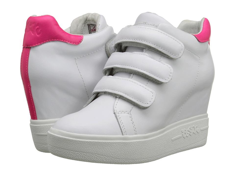 ASH - Avedon (White/Neon Pink Nappa Calf/Neon) Women