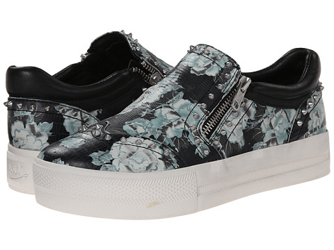 ASH - Jasmin (Black/White/Black Tejus Flower/Nappa) Women's Shoes