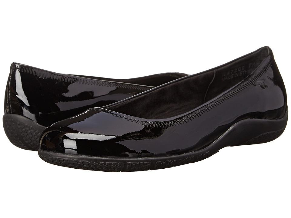 Walking Cradles - Dee (Black Patent) Women's Flat Shoes