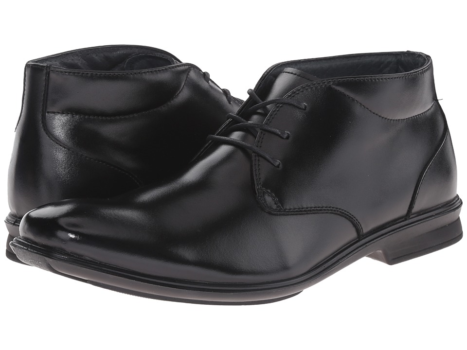 Hush Puppies - Travis Gravity (Black Leather) Men's Shoes