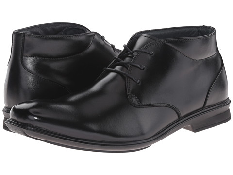 Hush Puppies - Travis Gravity (Black Leather) Men