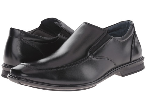 Hush Puppies - Gravity Slip-On MT IIV (Black Leather) Men's Slip on Shoes