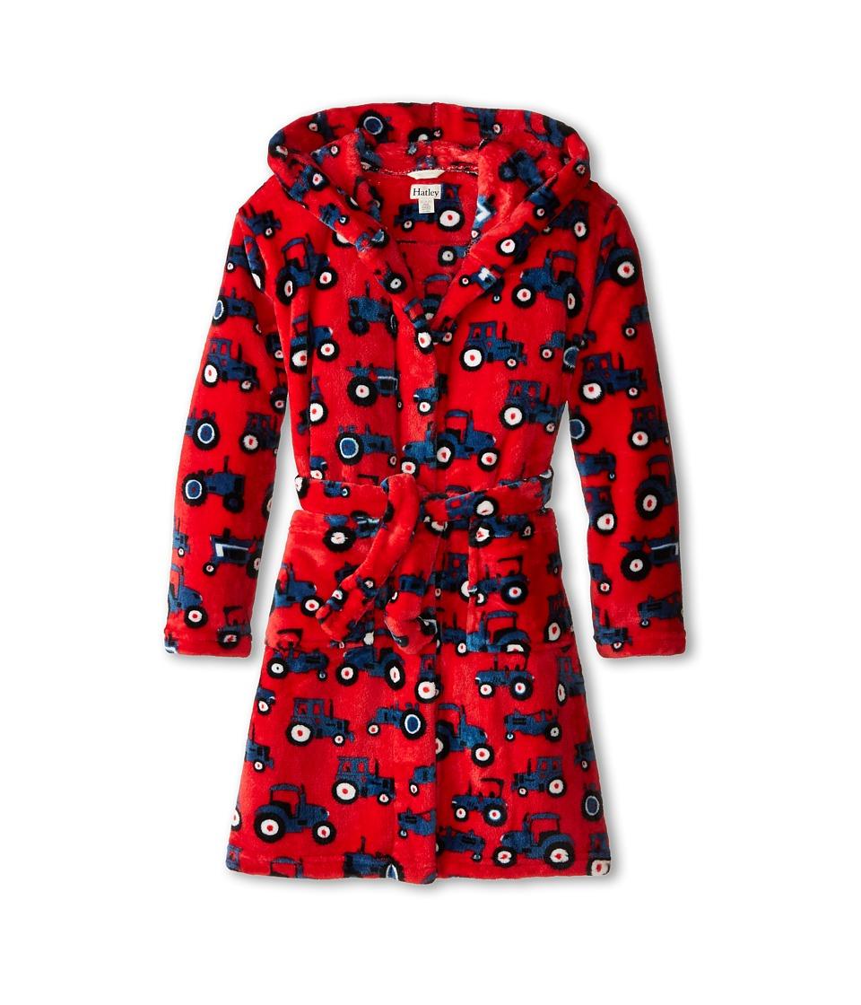 Hatley Kids - Farm Tractors Fuzzy Fleece Robe (Toddler/Little Kids/Big Kids) (Red) Boy