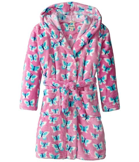 Hatley Kids - Icy Butterflies Fuzzy Fleece Robe (Toddler/Little Kids/Big Kids) (Pink) Girl's Robe