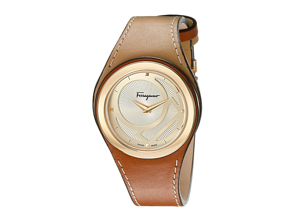 Salvatore Ferragamo - Gancino Chic FID020015 (Brown/Tobacco) Watches