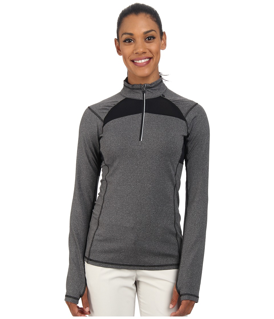 LIJA - Stride 1/4 Zip Pullover (Charcoal Heather) Women's Clothing
