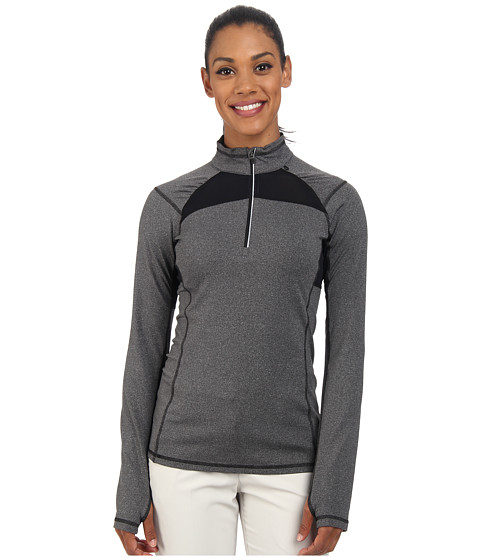 LIJA - Stride 1/4 Zip Pullover (Charcoal Heather) Women