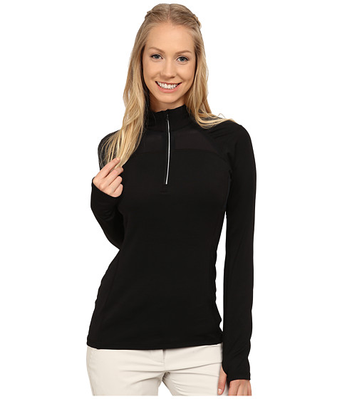 LIJA - Stride 1/4 Zip Pullover (Black 1) Women's Clothing