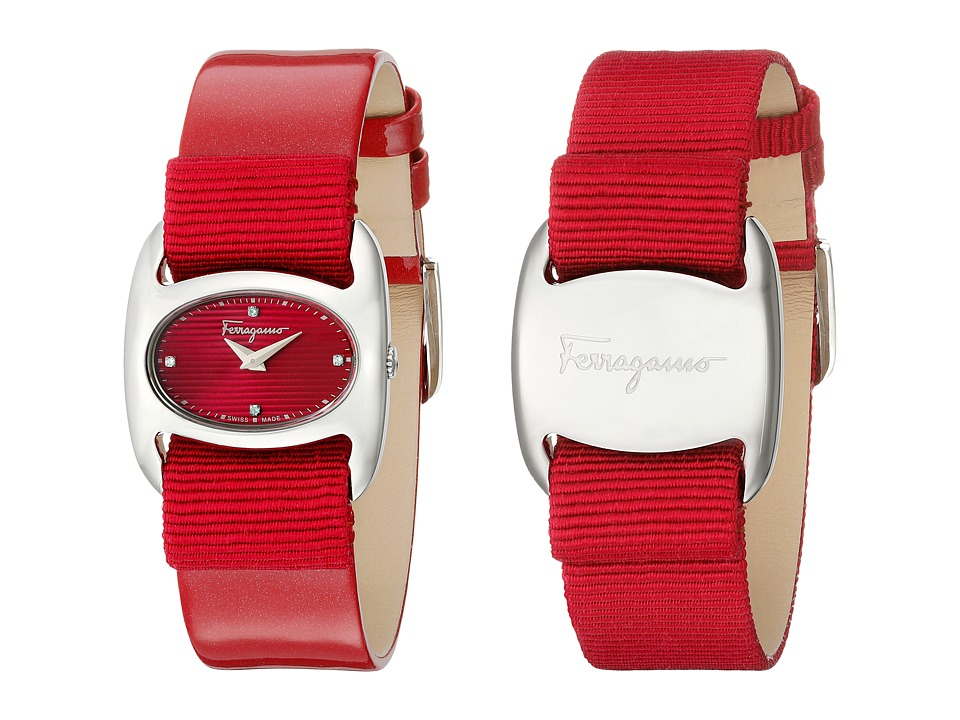 Salvatore Ferragamo - Varina FIE010015 (Stainless Steel/Fuchsia) Analog Watches