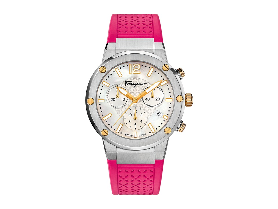 Salvatore Ferragamo - F-80 FIH020015 (Stainless Steel/Fuchsia) Watches
