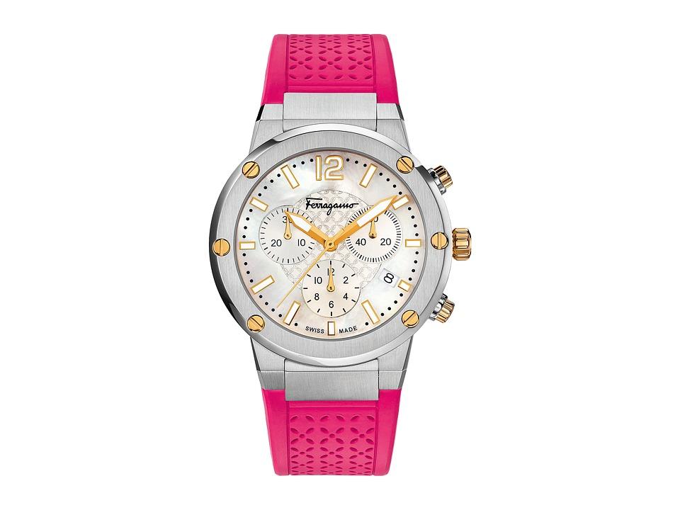 Salvatore Ferragamo - F-80 FIH020015 (Stainless Steel/Fuchsia) Watches