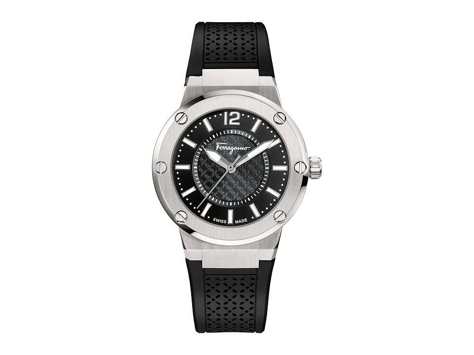 Salvatore Ferragamo - F-80 FIG020015 (Stainless Steel/Black) Watches
