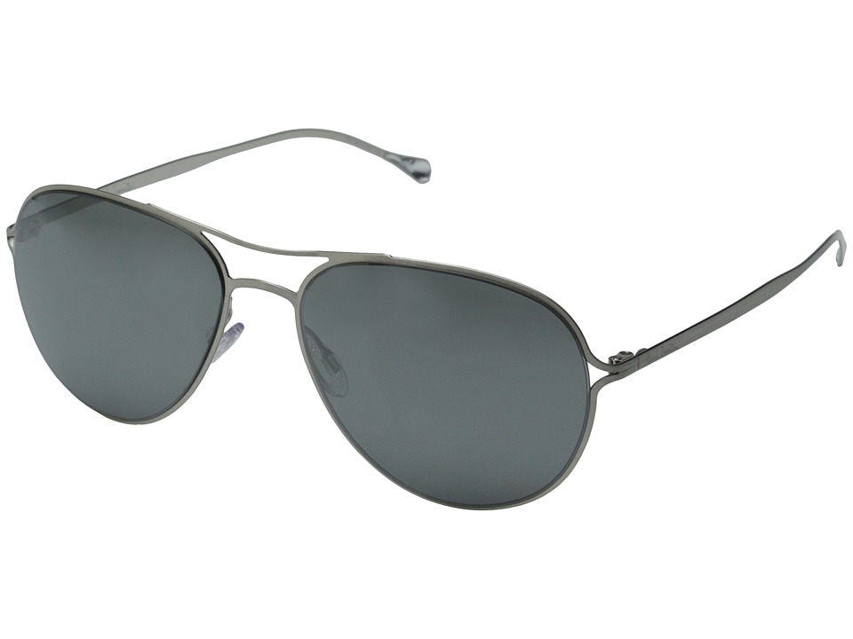 Paul Smith - Surrey (Brushed Silver/Black Satin Mirror) Fashion Sunglasses