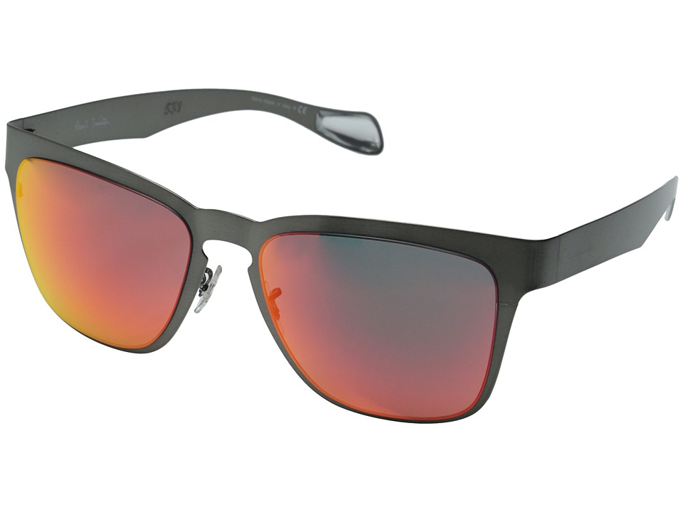 Paul Smith - Barson (Black Chrome/Inferno Mirror) Fashion Sunglasses