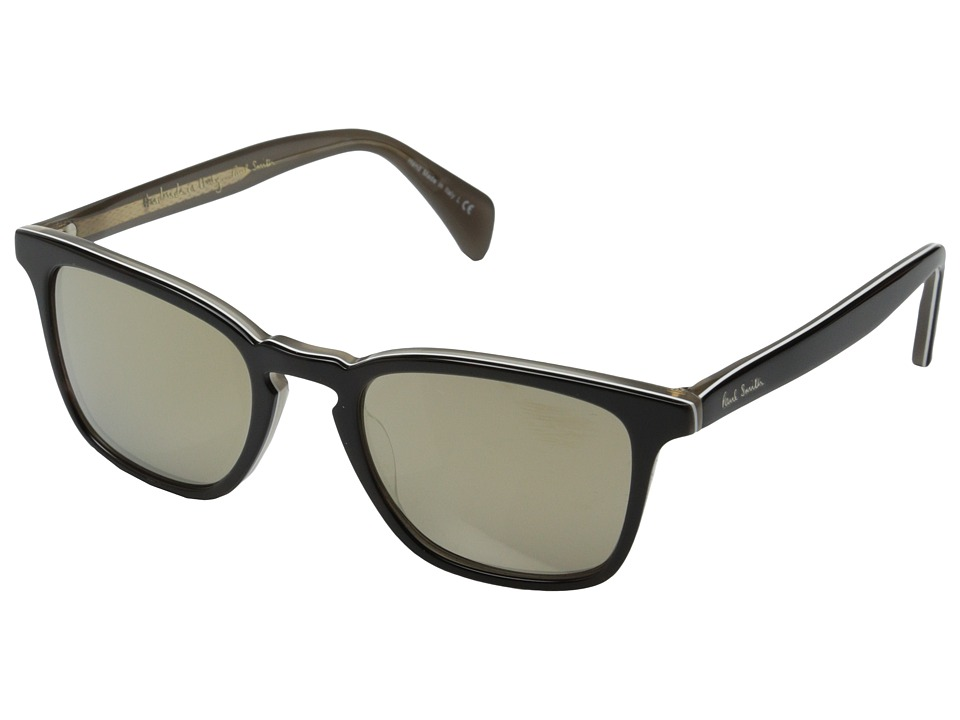 Paul Smith - Shawbury (Black Horn/Grey/Taupe Flash Mirror) Fashion Sunglasses