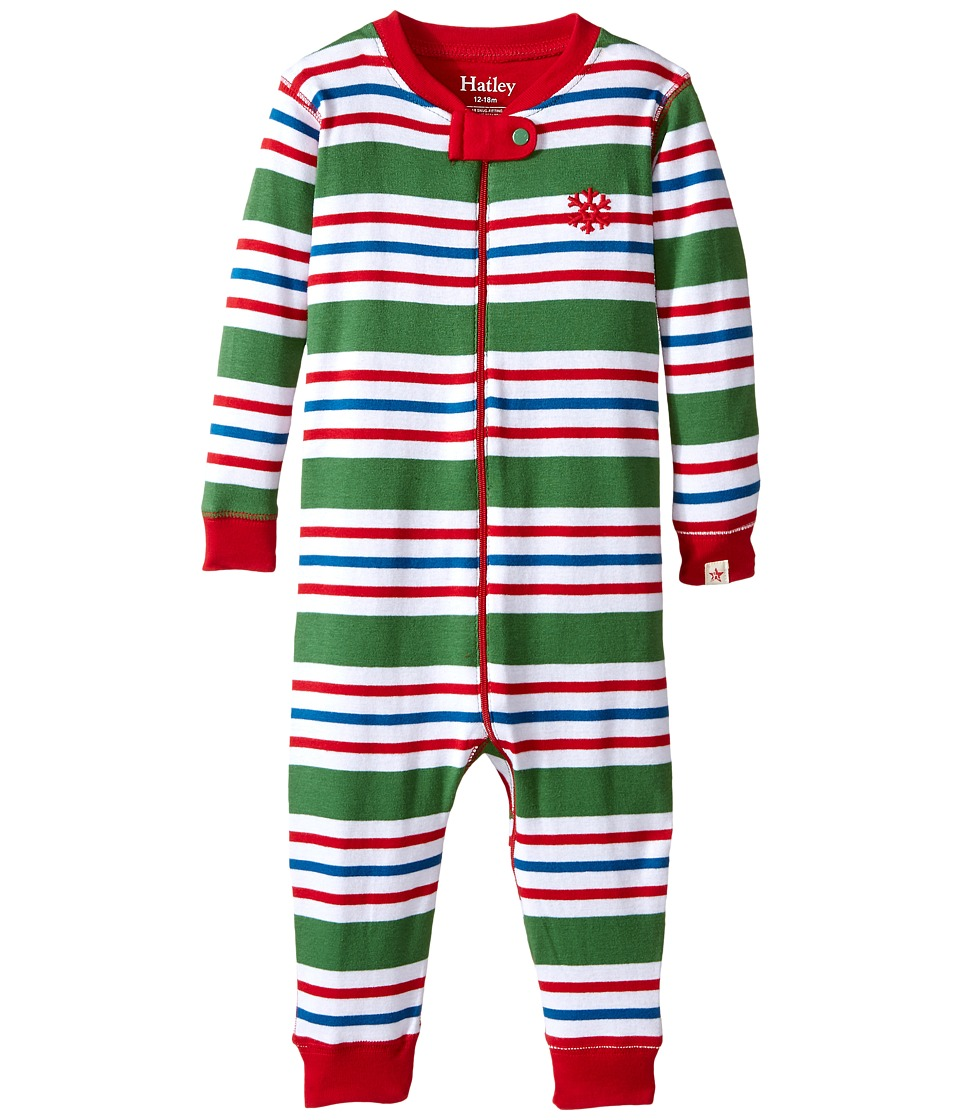 Hatley Kids - Holiday Stripe Sleepy Romper (Infant) (Multi) Boy's Jumpsuit & Rompers One Piece