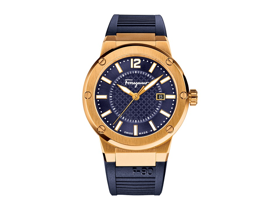 Salvatore Ferragamo - F-80 FIF050015 (Gold/Blue) Watches
