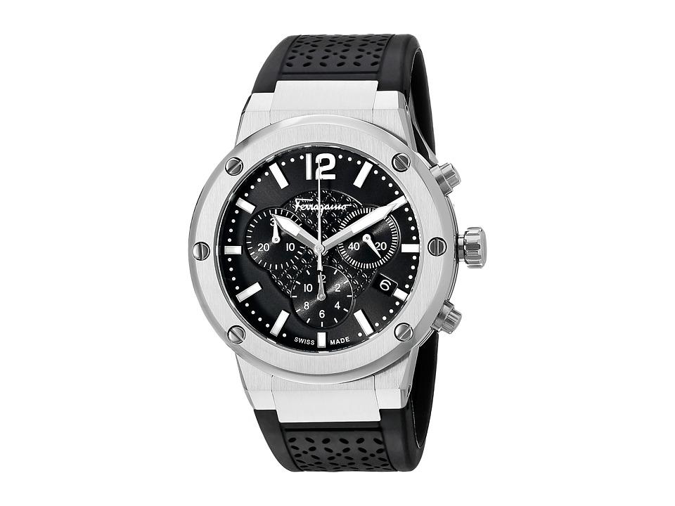 Salvatore Ferragamo - F-80 FIH010015 (Stainless Steel/Black) Watches