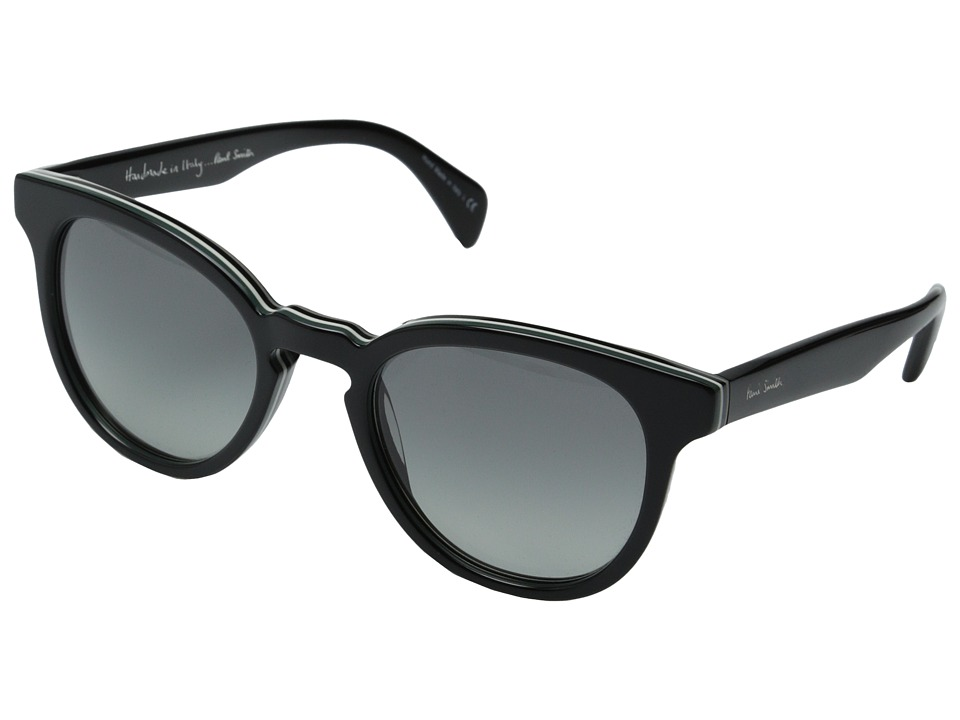 Paul Smith - Serle (Deluxe Onyx Stripe/Grey Gradient) Fashion Sunglasses