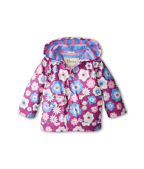 Hatley Kids - Graphic Flowers Raincoat (Infant) (Purple) Girl