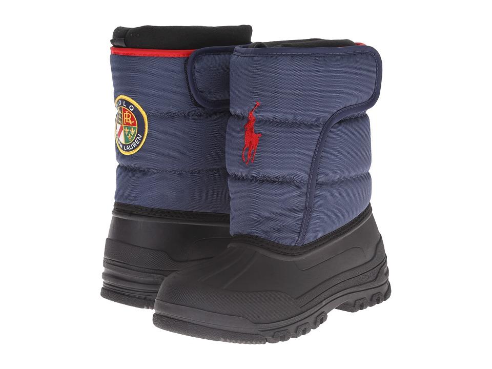 Polo Ralph Lauren Kids - Hamilten EZ (Little Kid) (Navy Nylon/Red) Boys Shoes