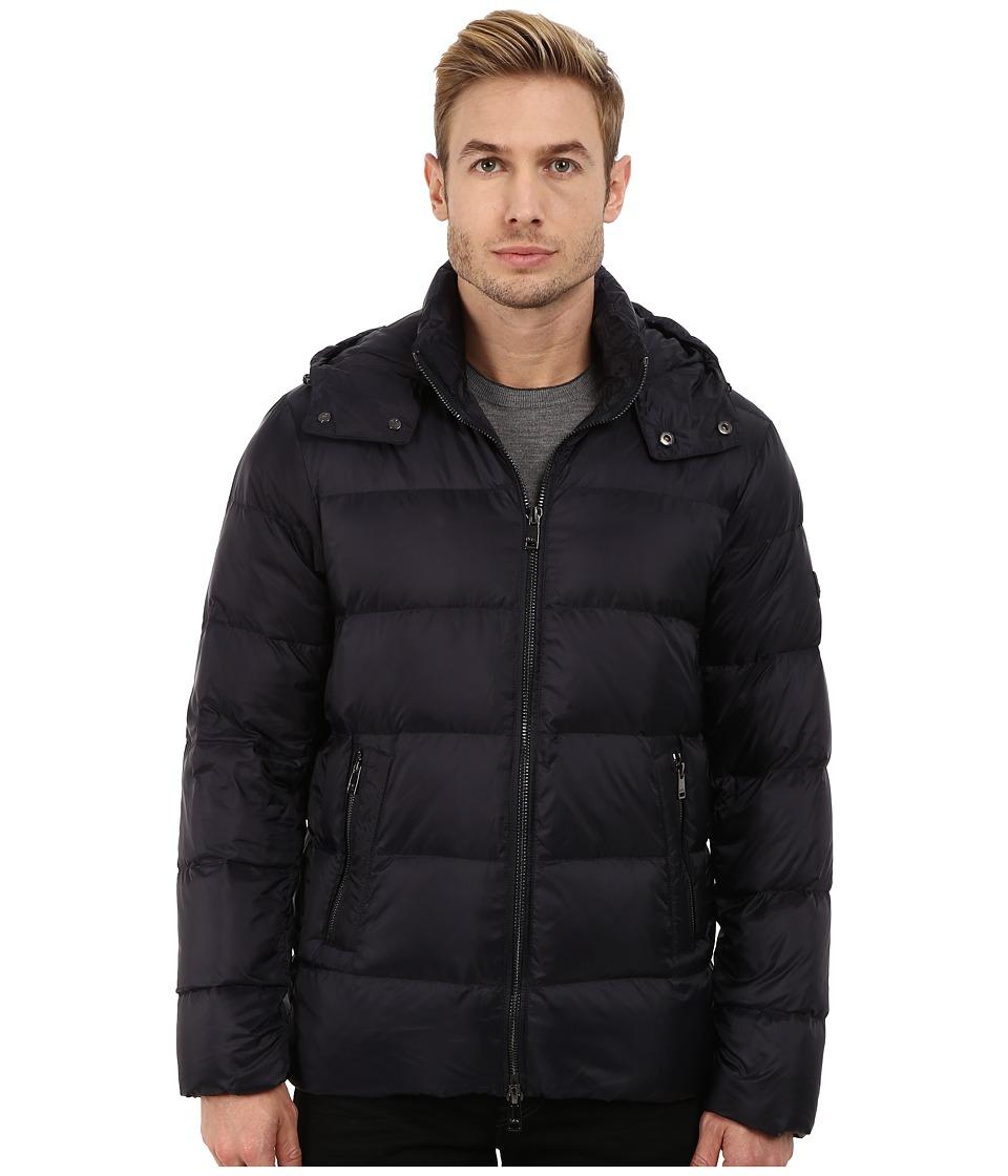 Michael Kors - Lightweight Hooded Down Jacket (Midnight) Men's Coat