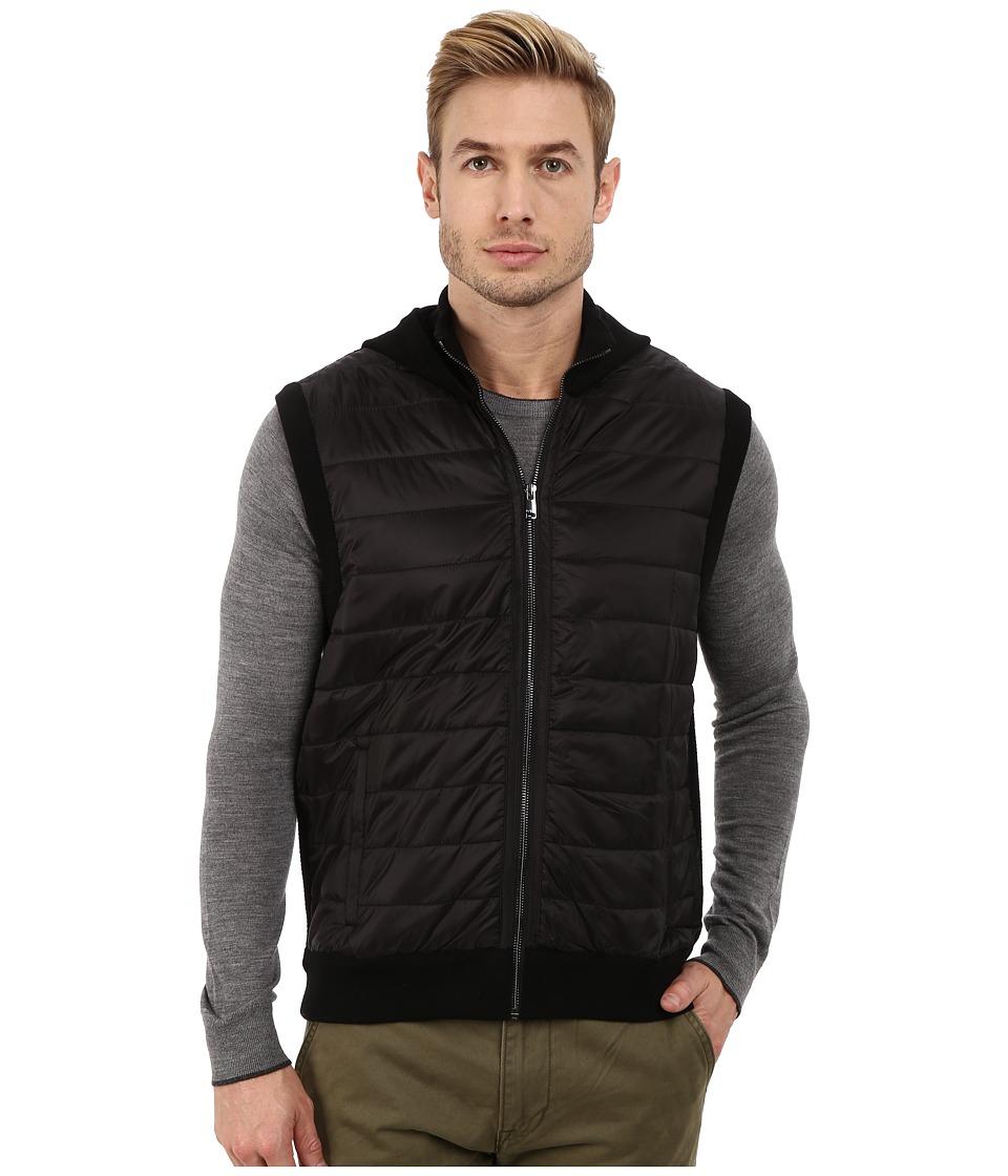 Michael Kors - Puffer Hooded Vest (Black) Men's Vest