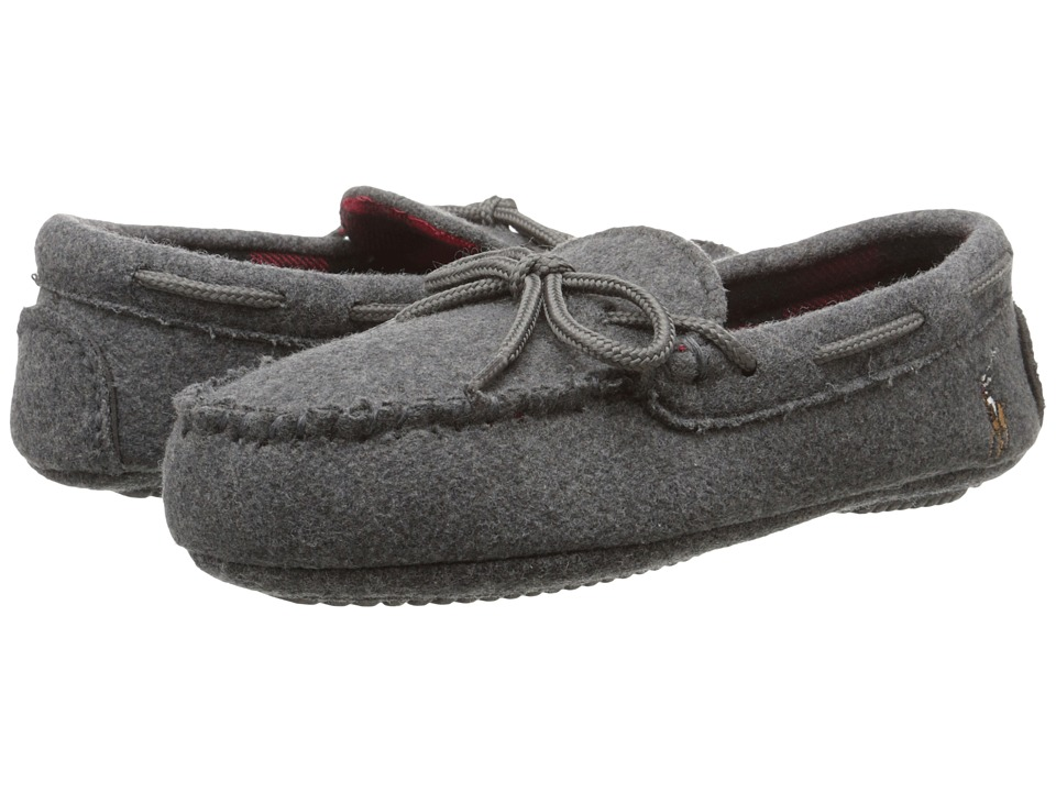 Polo Ralph Lauren Kids - Rustle Moc (Little Kid) (Grey Wool/Buffalo Plaid/Multi Pony) Kids Shoes